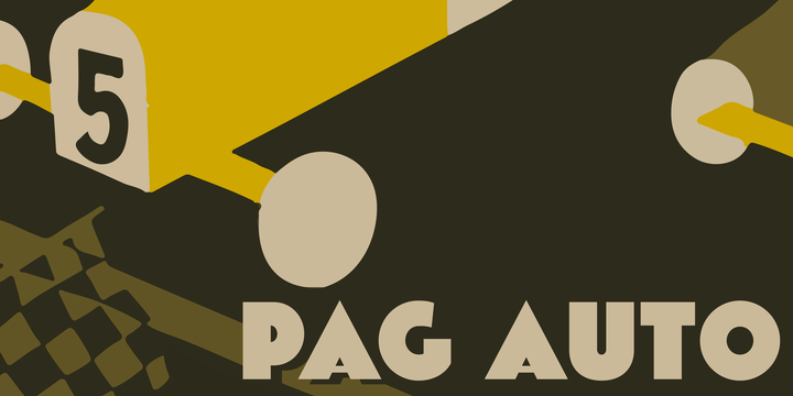 Pag Auto [1 Font] | The Fonts Master