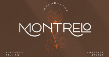 Montrelo [1 Font] | The Fonts Master