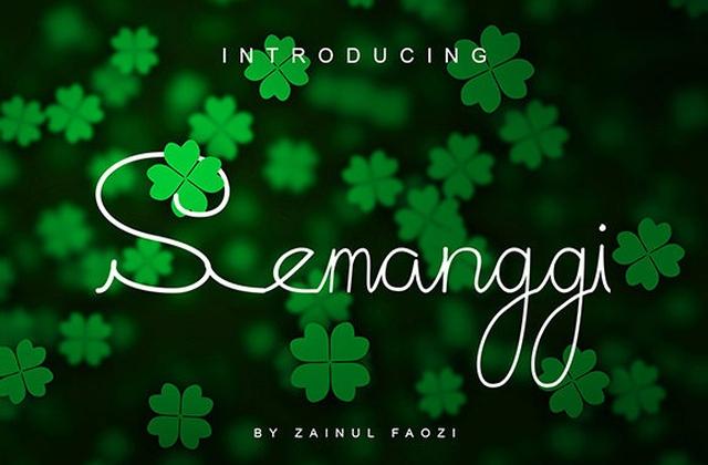 Semanggi [1 Font] | The Fonts Master