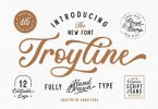 Troyline [4 Fonts] | The Fonts Master