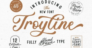 Troyline [4 Fonts] | The Fonts Master