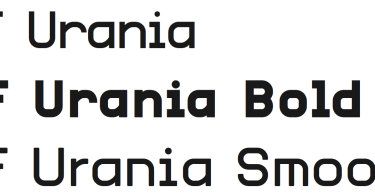 Urania Cf [3 Fonts] | The Fonts Master
