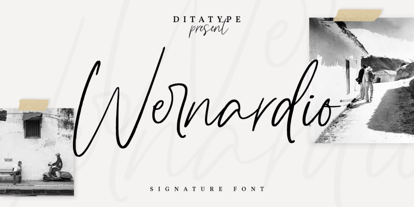 Wernardio [1 Font] | The Fonts Master
