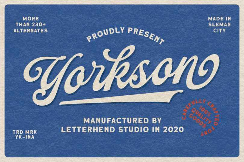 Yorkson [1 Font] | The Fonts Master