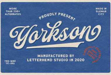 Yorkson [1 Font]   The Fonts Master