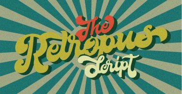 The Retropus Script [2 Fonts] | The Fonts Master
