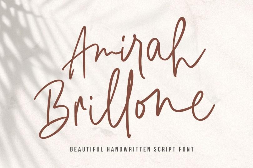 Amirah Brillone [1 Font] | The Fonts Master