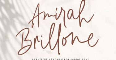 Amirah Brillone [1 Font] | The Fonts Master