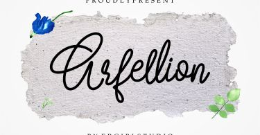 Arfellion [1 Font] | The Fonts Master