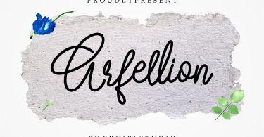 Arfellion [1 Font] | The Fonts Master