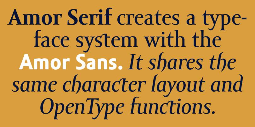 Amor Serif Super Family [8 Fonts] | The Fonts Master