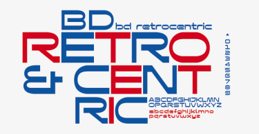 Bd Retrocentric [1 Font] | The Fonts Master