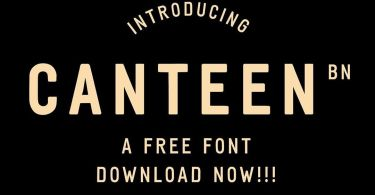 Bn Canteen [3 Fonts] | The Fonts Master