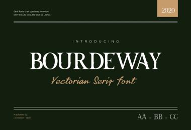 Bourdeway [1 Font]   The Fonts Master