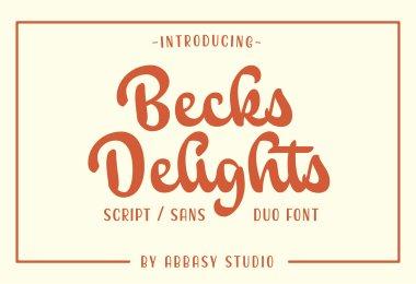 Becks Delights [2 Fonts] | The Fonts Master