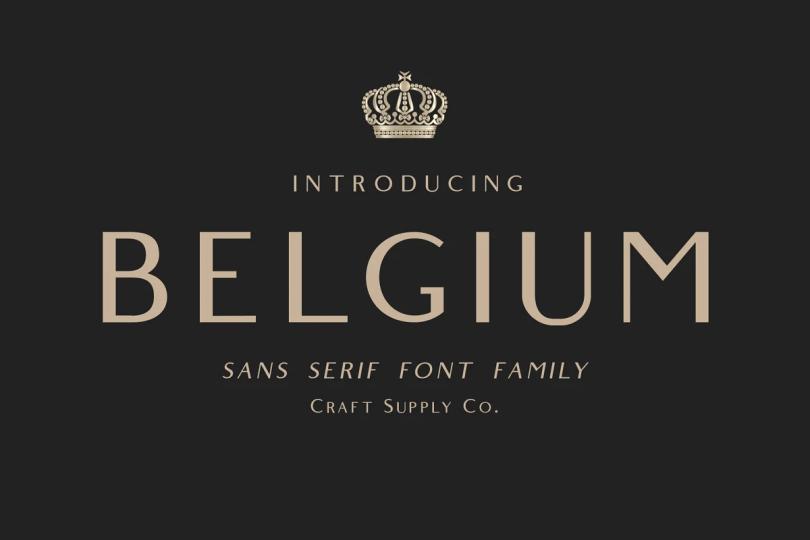 Belgium [2 Fonts] | The Fonts Master
