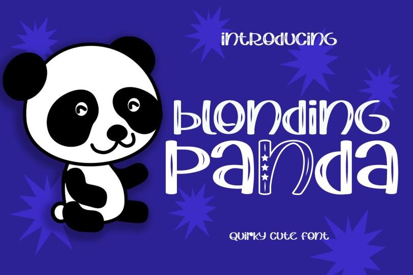 Blonding Panda [1 Font]   The Fonts Master