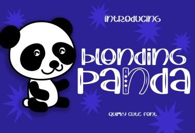 Blonding Panda [1 Font] | The Fonts Master