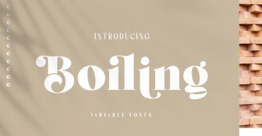 Boiling [11 Fonts] | The Fonts Master