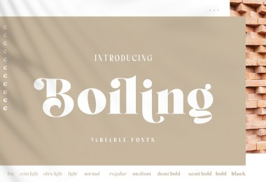 Boiling [11 Fonts]   The Fonts Master