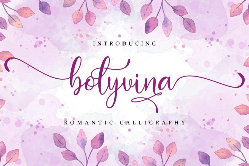 Bolyvina [1 Font] | The Fonts Master