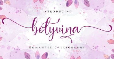 Bolyvina [1 Font] | The Fonts Master