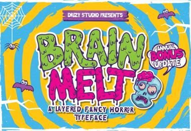 Brain Melt [2 Fonts] | The Fonts Master