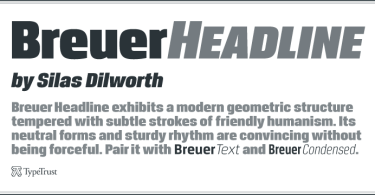 Breuer Headline [2 Fonts] | The Fonts Master
