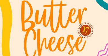 Butter Cheese [1 Font] | The Fonts Master