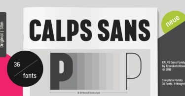 Calps Sans Super Family [36 Fonts] | The Fonts Master