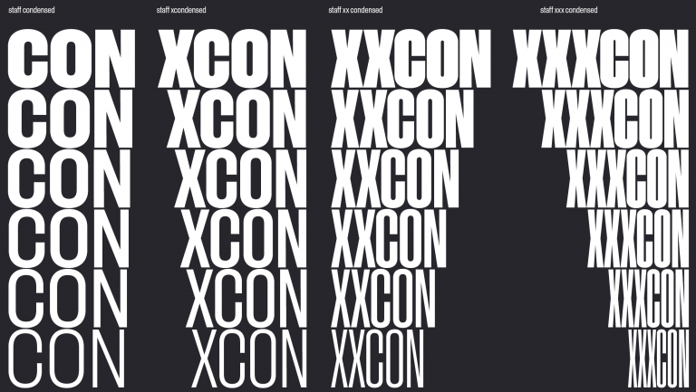 Staff Xxx Condensed Super Family [12 Fonts] | The Fonts Master