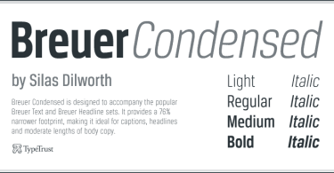 Breuer Condensed Super Family [8 Fonts] | The Fonts Master