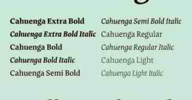 Cahuenga Super Family [10 Fonts] | The Fonts Master