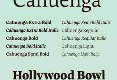 Cahuenga Super Family [10 Fonts]   The Fonts Master