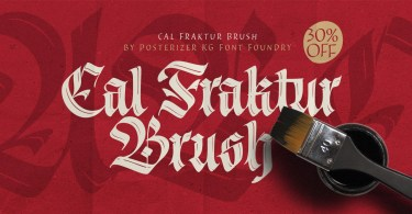 Cal Fraktur Brush [1 Font] | The Fonts Master