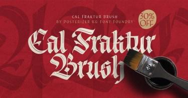 Cal Fraktur Brush [1 Font] | The Fonts Master