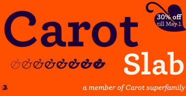 Carot Slab Super Family [16 Fonts] | The Fonts Master