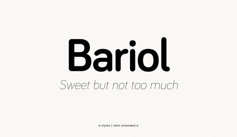 Bariol [8 Fonts] | The Fonts Master
