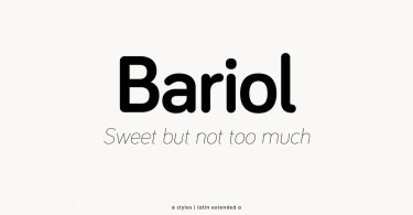 Bariol [8 Fonts] | The Fonts Master