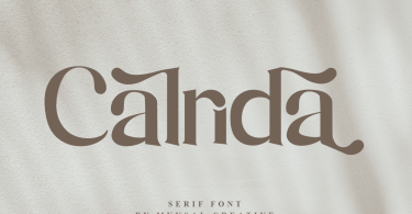 Calrida [1 Font] | The Fonts Master