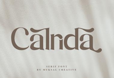 Calrida [1 Font]   The Fonts Master