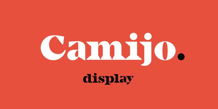 Camijo Display [1 Font] | The Fonts Master