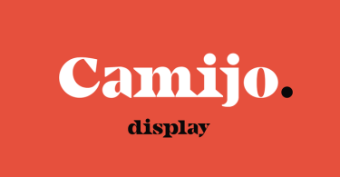 Camijo Display [1 Font] | The Fonts Master