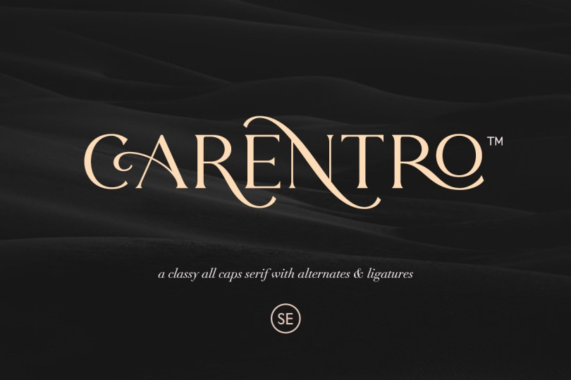 Carentro [1 Font] | The Fonts Master