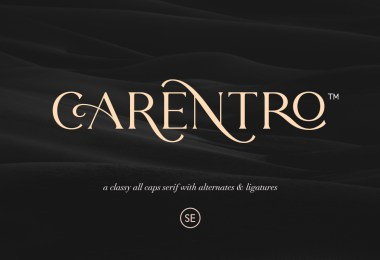 Carentro [1 Font] | The Fonts Master