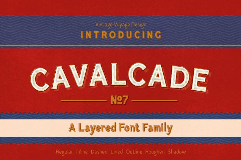 Cavalcade [7 Fonts] | The Fonts Master
