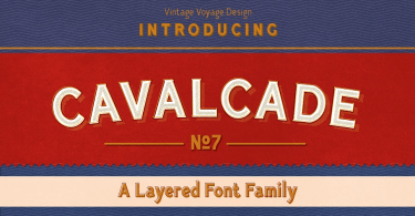 Cavalcade [7 Fonts] | The Fonts Master