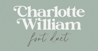 Charlotte William [2 Fonts] | The Fonts Master
