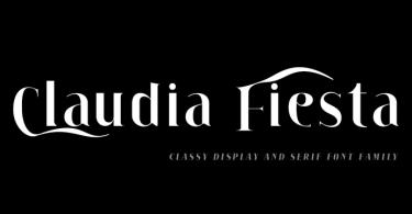 Claudia Fiesta [10 Fonts] | The Fonts Master