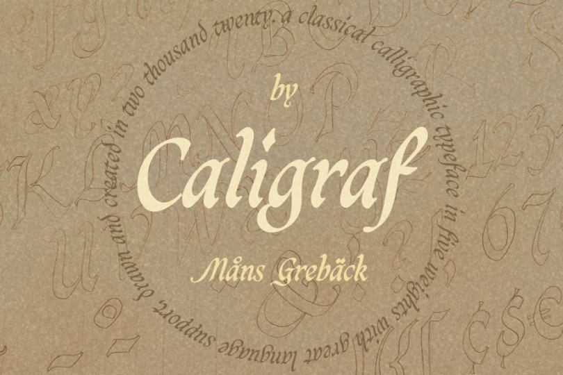 Caligraf [5 Fonts] | The Fonts Master